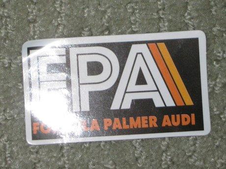 Formula Palmer Audi FPA sticker