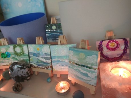 Channeled Angel Reiki Sea Painting