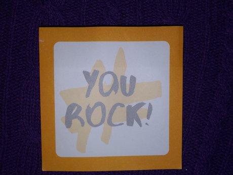 YOU ROCK sticky notes pad.