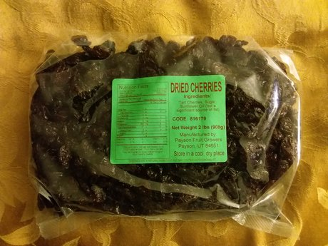 2 pounds of dried cherries
