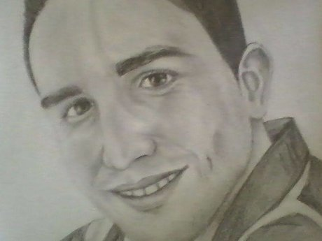 Drawing pencil portrait from  photo