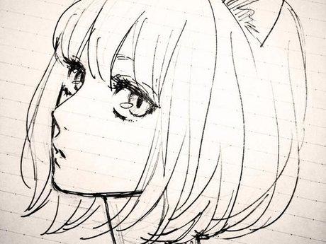 You drawn as a manga character