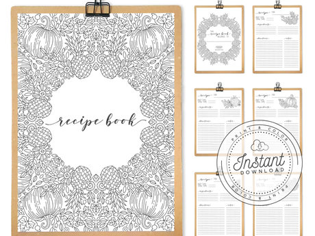 Printable Recipe Book Inserts