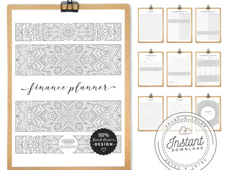 Printable Mandala Finance Planner