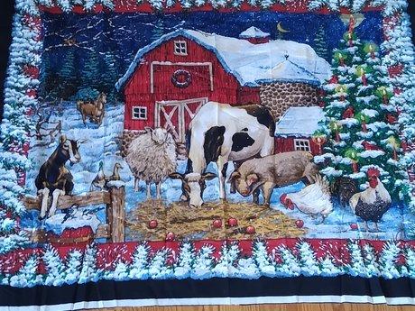 Large Christmas Fabric