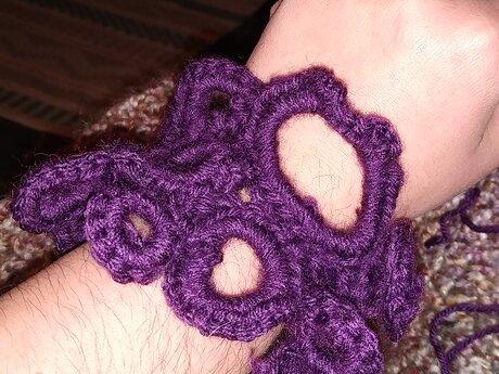Handmade Funky Bracelet Crocheted