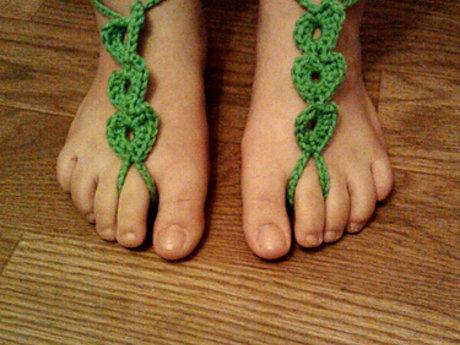 Heart Barefoot Sandals