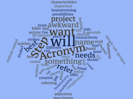 Create the Perfect Acronym