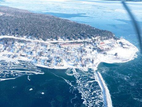 Aerial Photo of Mackinaw Island