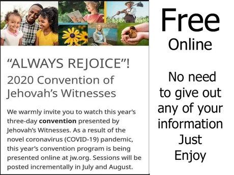 """""""Always Rejoice""""!  J.W. Convention"""