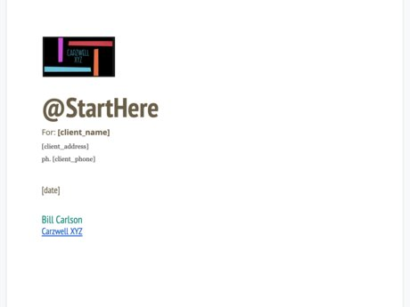 Create your @StartHere