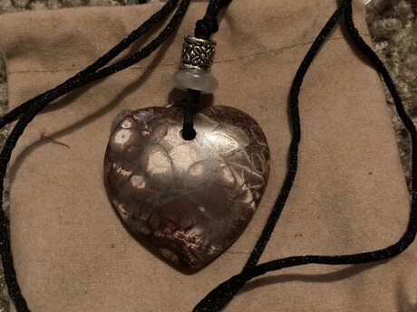 Mookalite heart necklace