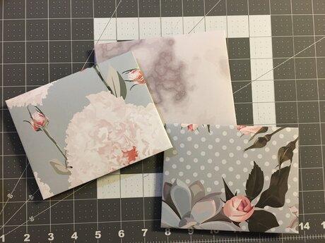3 Hand Folded Envelopes