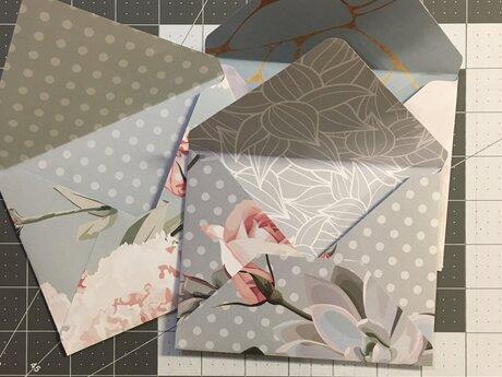 Three Hand Folded Envelopes