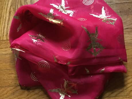 Pink fairy scarf - new