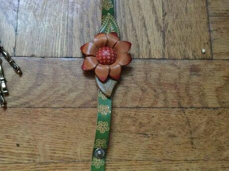 Flower bracelet - artist made