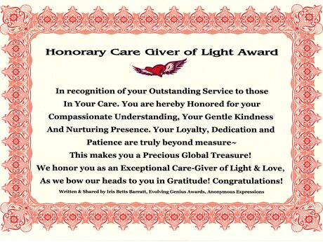 Honor You With An Award, Please~