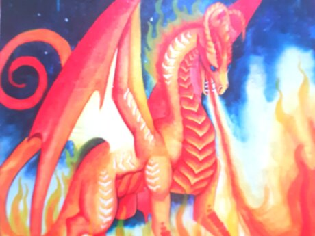 Distanced & detailed dragon reading