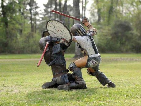 L.A.R.P. combat lesson