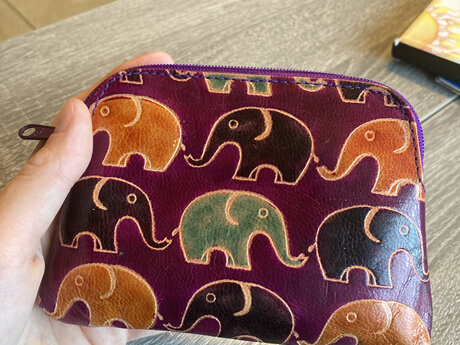 Purple elephant wallet