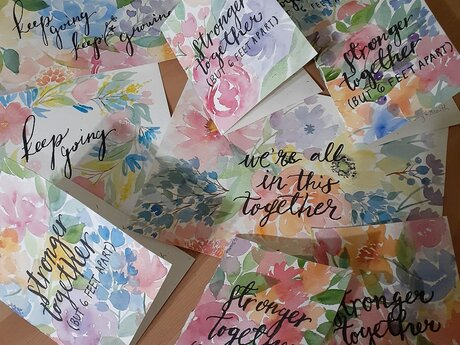 Mail a custom floral watercolor