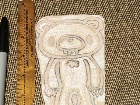 Gloomy Bear Linocut