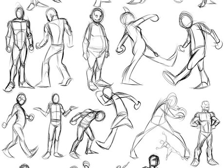3 custom gesture drawings