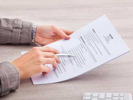 Resume editing