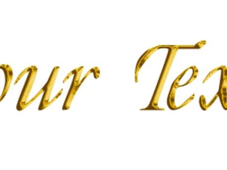 Gold Text Header