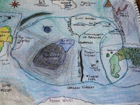 RPG dungeon or world map design
