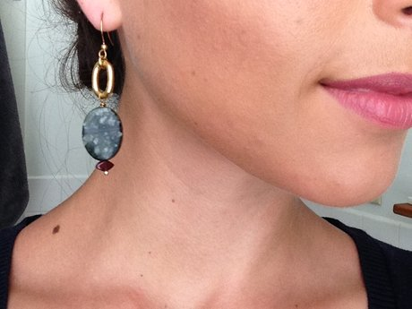 Pair of Suede Turtle earrings
