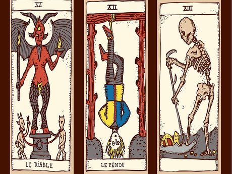 Three-card tarot reading