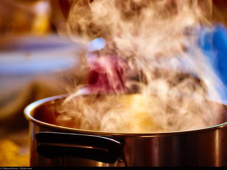 Preparing or cooking food