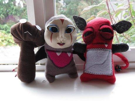 Handmade Fabric Scraps Doll