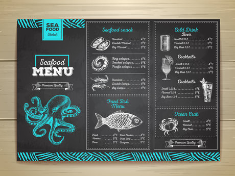 Menu design and ideas.