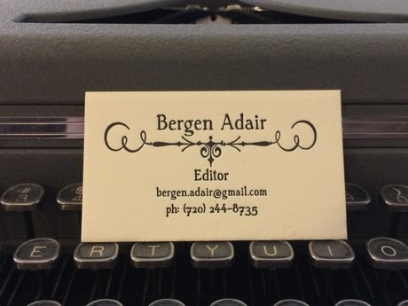 Letterpress Business Cards - Black