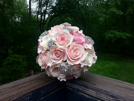 Custom Clay Wedding Bouquet