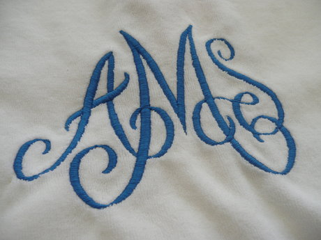Animal, letter,and team embroidery