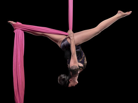 Learn to fly on aerial silks!
