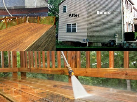 Power Washing single story home