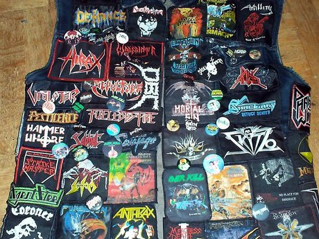 Handmade band patches