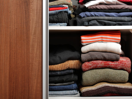Cabinet and closet organization.