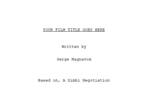 Script Writer 'For Hire'