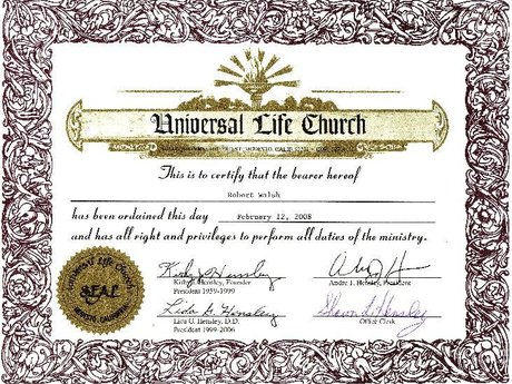 Officiant for Weddings/Commitment