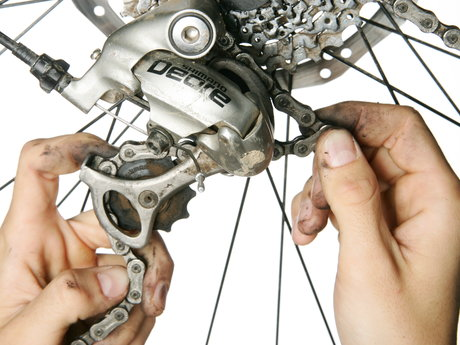 Bike repair & maintenance.