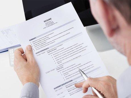Look over resume