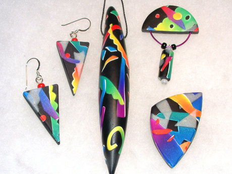 Polymer clay jewelry