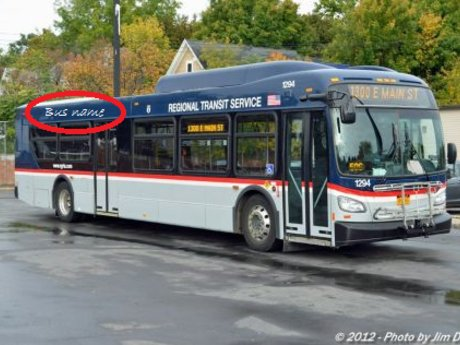 The name of the last bus I rode