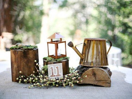 Rustic wedding decor design