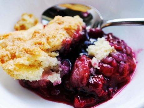 Bake my famous triple berry cobbler